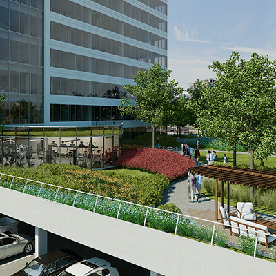 7th floor landscaped outdoor plaza